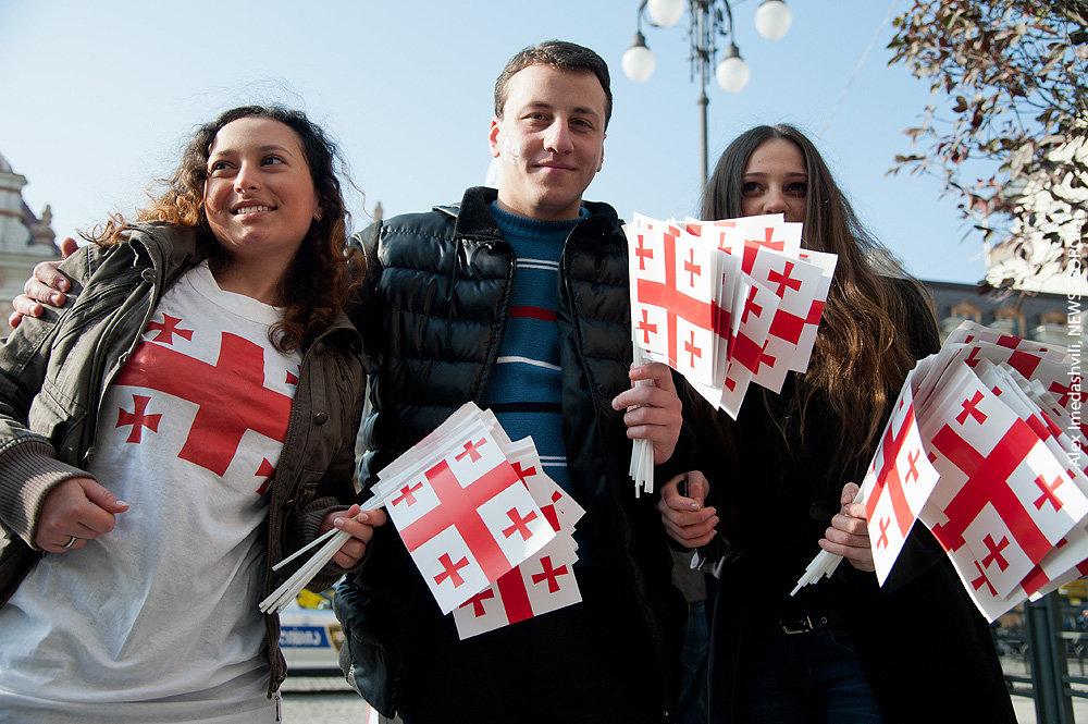 Визит молодежи Грузии в Москву